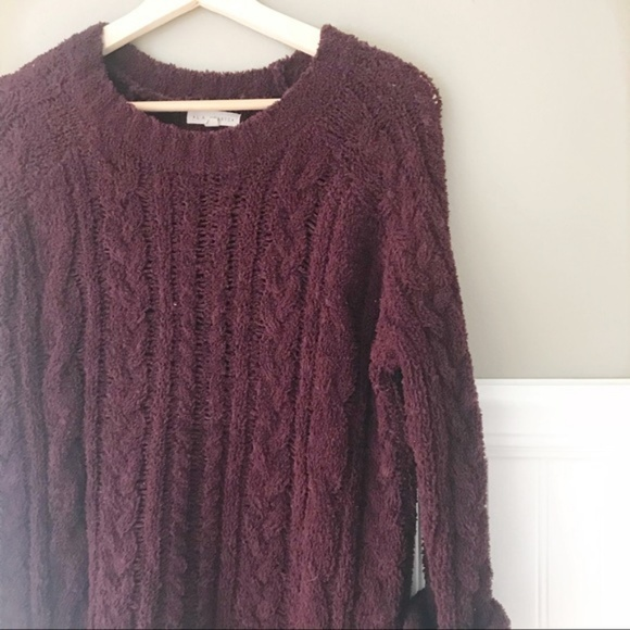 4c72d52510bf38 Cozy Burgundy Cable Knit Soft Sweater PacSun. M_5bca60ec819e907ff4d3a2e8